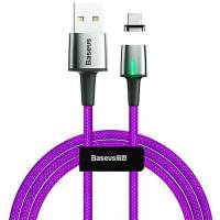 Baseus Zinc Magnetic Cable USB For Type-C 3A 1m Purple