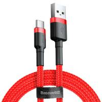 Baseus cafule Cable USB For Type-C 2A 2M Red+Red